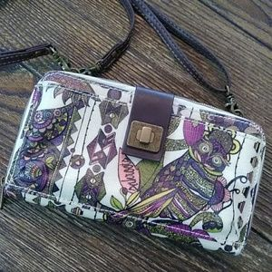 Sal roots owl paisley purse